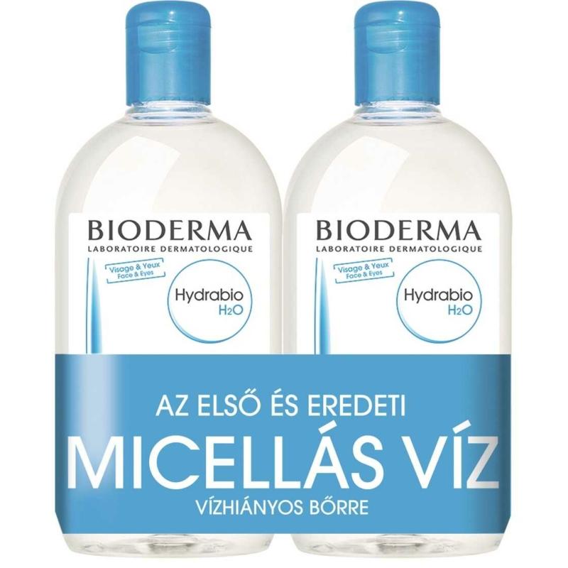 BIODERMA Hydrabio H2O arc-és sminklemosó vízhiányos bőrre 2 x 500 ml
