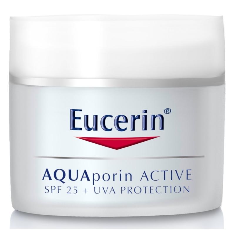 EUCERIN AQUAporin ACTIVE hidratáló arckrém UV-szűrővel FF25 50 ml
