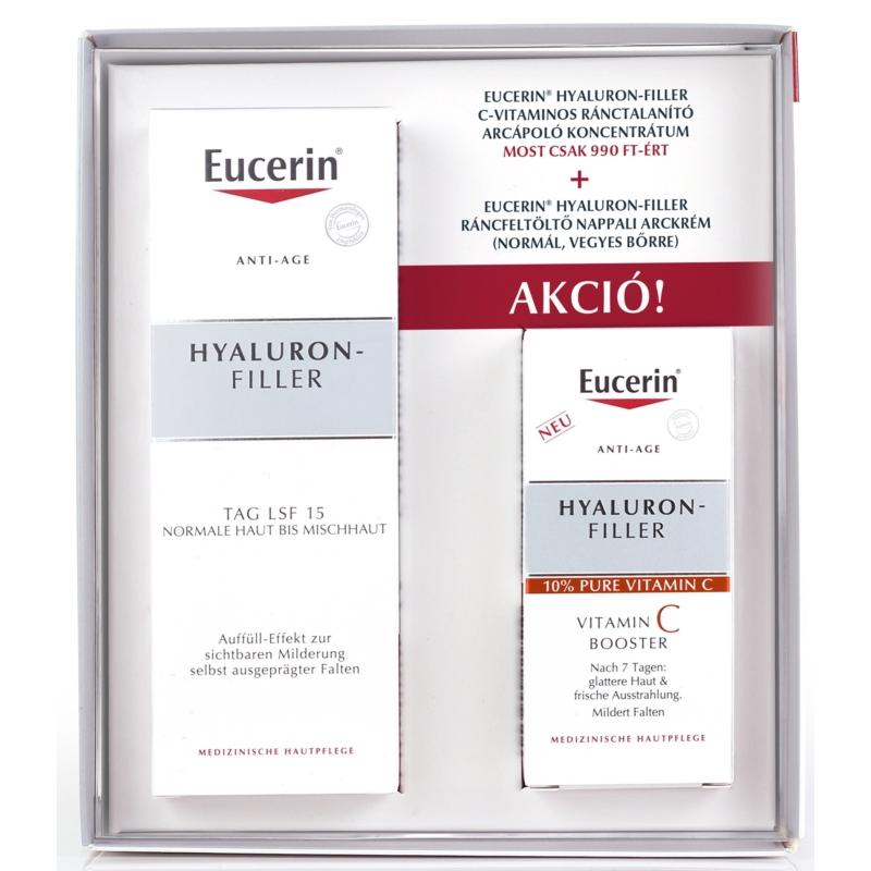 EUCERIN Hyaluron-Filler normál, vegyes bőrre + C-vitamin koncentrátum