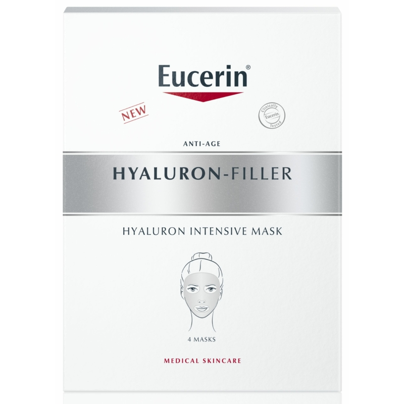 EUCERIN Hyaluron-Filler ráncfeltöltő fátyolmaszk 4 db