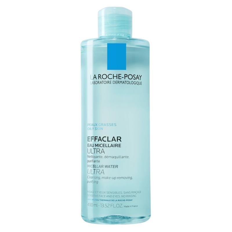 LA ROCHE-POSAY Effaclar micellás arctisztító Ultra zsíros, érzékeny bőrre 400 ml