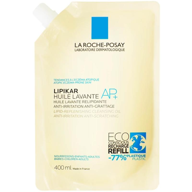 LA ROCHE-POSAY Lipikar tusfürdő olaj AP+ utántöltő 400 ml