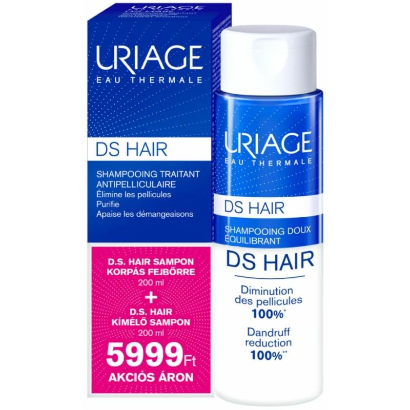URIAGE D.S. HAIR csomag korpás fejbőrre