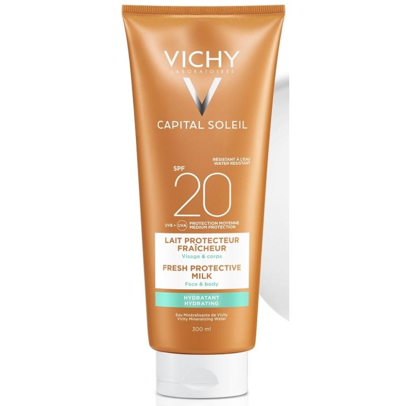VICHY Capital Soleil Beach Protect hidratáló naptej SPF20 300 ml