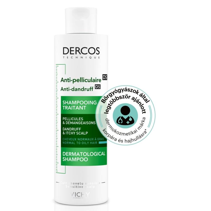 VICHY Dercos korpásodás elleni sampon normál és zsíros hajra 200 ml