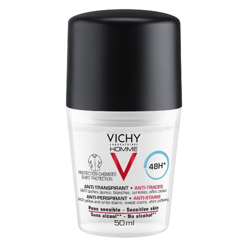 VICHY Homme férfi foltmentes izzadásgátló golyós dezodor 50 ml