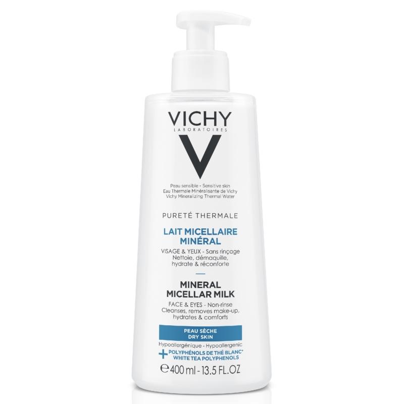 VICHY Pureté Thermale micellás arctisztító tej száraz bőrre 400 ml